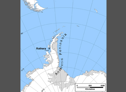 Rothera loaction map